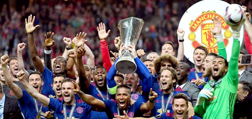 Manchester United wins the Europa League