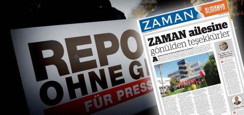Zaman Gazetesi Almanya'da son baskısını yaptı