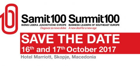 Skopje to host Summit100 Business Leaders of SEE
