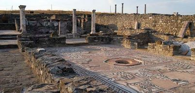 Exhibition of archaeological site photographs