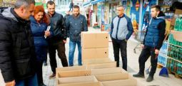 Çayır belediyesi, Arnavutluk'taki selzedelere yardım eli uzatıyor..