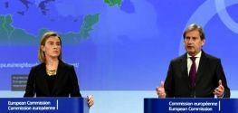 Mogherini and Hahn call for calm, restraint