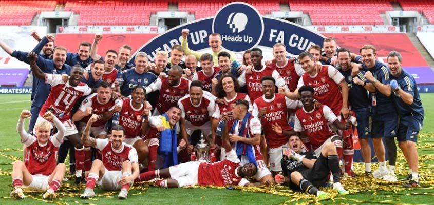 Aubameyang the hero as Arsenal beat Chelsea to win FA Cup