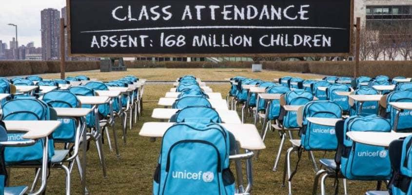 UNICEF: Schools for 168 million children closed for almost a year