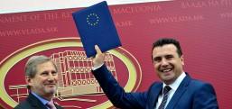 """Avrupa Komisyonu """"Makedonya'yla müzakerelere başlansın"""" dedi"""