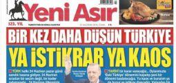 İzmir'in 123 yıllık gazetesi İnce'nin mitingini görmedi; Tayyip Erdoğan fotoğrafı basıp, tehdit etti!