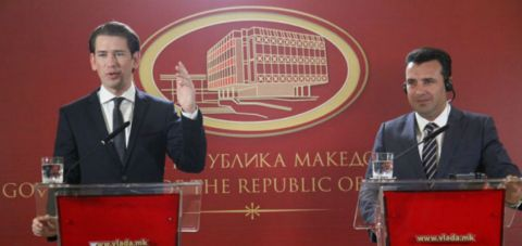 Kurz: Vote 'for' agreement and 'for' Macedonia's European perspective
