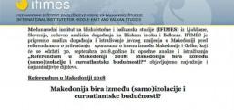 Uluslararası Balkan Araştırmaları Kurumu: Makedonya'nın geleceği vatandaşının elinde..