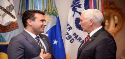 MANŞET| Zaev ABD Başkan Yardımcısıyla görüştü: Makedonya'nın yeri NATO ve Avrupa Birliğidir..