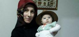 Üç aylıkken cezaevine giren Bahar bebek yeni yaşını içeride kutladı