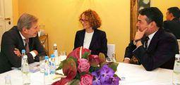 Dimitrov ve Şekerinska, Han ve Mogerini ile görüştü