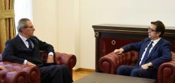 Средба на претседателот Пендаровски со шефот на мисијата на ОБСЕ, Клеменс Која