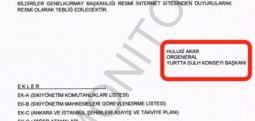 Тајните документи на воениот удар во Турција: Потпис на Хулуси Акар врз соопштението на турските вооружени сили за превземање на властта
