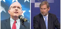 Riker dhe Han  në Shkup, takime me krerët shtetërorë dhe opozitën