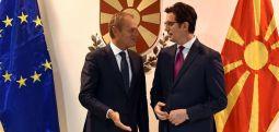 Pendarovski –Tusk: Qytetarët e Maqedonisë së Veriut meritojnë të ardhme evropoiane