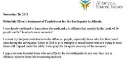 Fethullah Gylen shpreh ngushëllimet e tij për tërmetin që goditi Shqipërinë