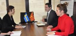 Ministri  Naser Nuredini u takua  me ambasadoren e Mbretërisë së Suedisë Christine Forsgren Bengtsson