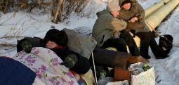 Sibirya'da -30 derecede evsiz olmak
