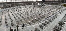 Најголемата хала на Белградскиот саем претворена во болница со 3000 легла