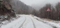 Reshje bore, ndalesa për kamionë afër Strazhës dhe rrugën për në Mavrovë-Dibër
