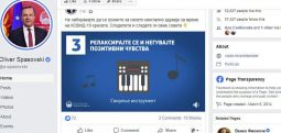 Spasovski në Fejsbuk ndau spot për kujdesin për shëndetin mental të qytetarëve në gjendje të jashtëzakonshme