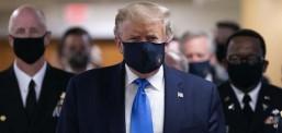 Трамп првпат во јавност со заштитна маска