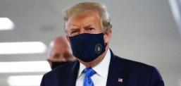 Tramp për herë të parë në opinion me maskë mbrojtëse