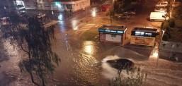 Силно невреме во Загреб, поплавени улици и згради
