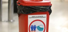 PPE waste bins set up throughout North Macedonia