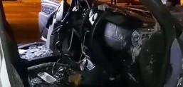 Digjen dy vetura të EVN-së në Tetovë, policia areston nje person