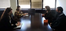 Средба на министерката Шахпаска со претставници од Националната конвенција за ЕУ