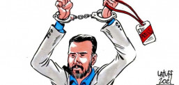 Brezilyalı karikatürist Carlos Latuff gazeteci Mehmet Baransu'yu çizdi