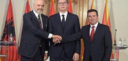 """""""Mini Shengeni"""", Zaev, Rama dhe Vuçiç takohen javës tjetër në Shkup"""