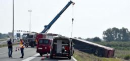 Детали за несреќата на косовскиот автобус кој се преврте кај Славонски Брод, десет лица загинаа