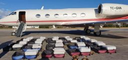 Kokainle yakalanan ATA uçağı Brezilya Polis Teşkilatı'na verildi